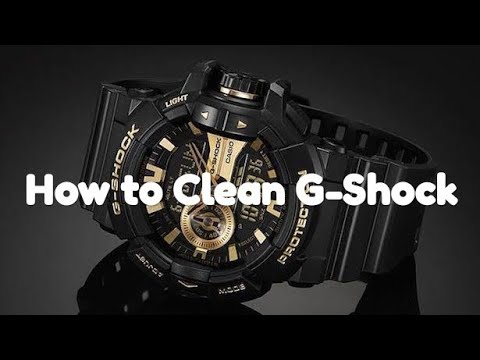 How to clean G shock watches