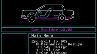 Car Builder gameplay (PC Game, 1982)