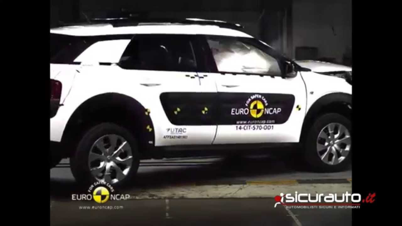 citroen c4 cactus euro ncap crash test youtube. Black Bedroom Furniture Sets. Home Design Ideas