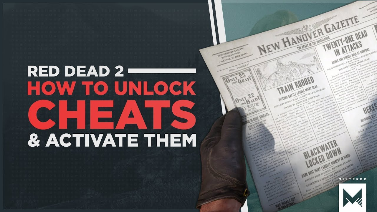 Red Dead Redemption 2: How To Enter, Activate And Unlock Cheat Codes