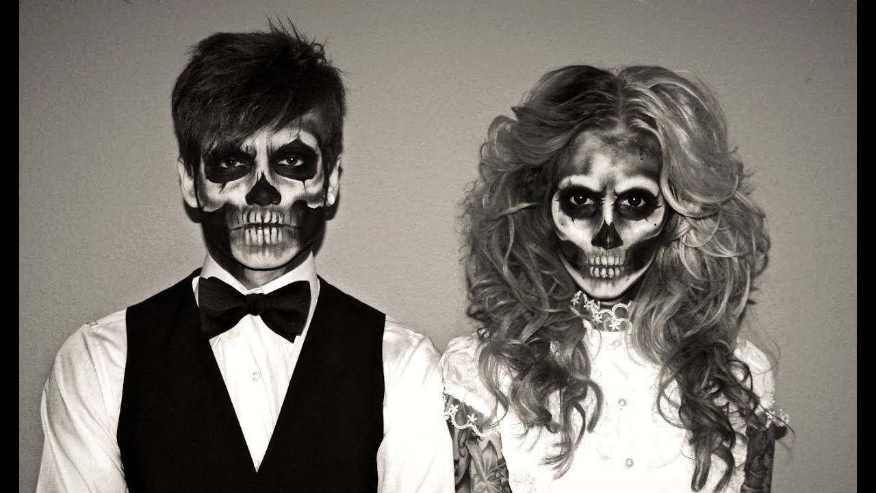 halloween skeleton makeup outtakes d youtube. Black Bedroom Furniture Sets. Home Design Ideas