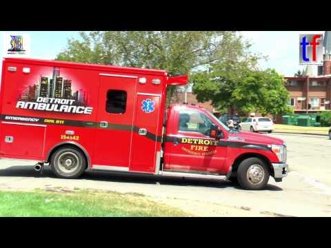 Ambulance Compilation ( no Sirens / Red Lights ) @ Detroit Medical Center, 08/12/2016.