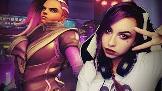 OVERWATCH Sombra Gameplay PTR Livestream l Bunny Girl #3
