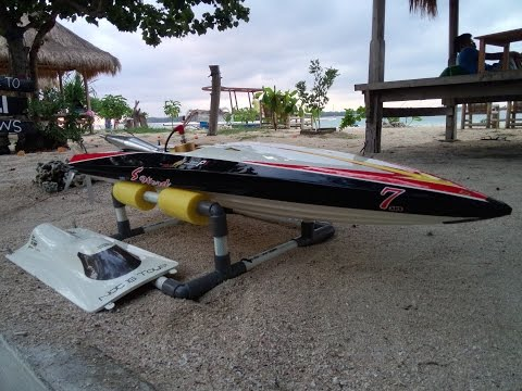Rc Boat Blade With Zenoah 30cc in waduk sermo