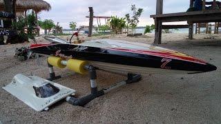 Rc Boat Blade With Zenoah 30cc in waduk sermo