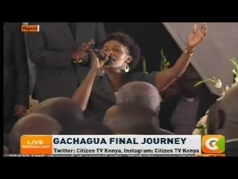 The song the late Gachagua requested to  be sung at his burial