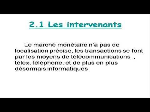 Cours: le marche monétaire
