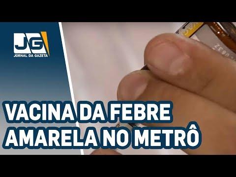 Vacina da febre amarela em estações do metrô