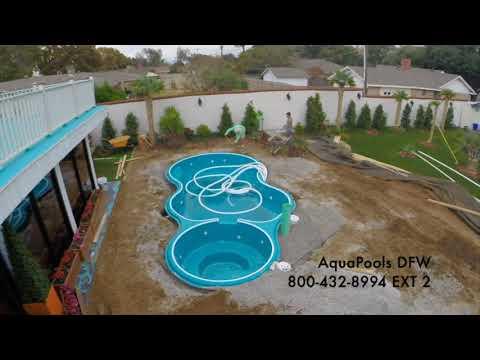 Aquamarine Pool Installation Timelapse Video