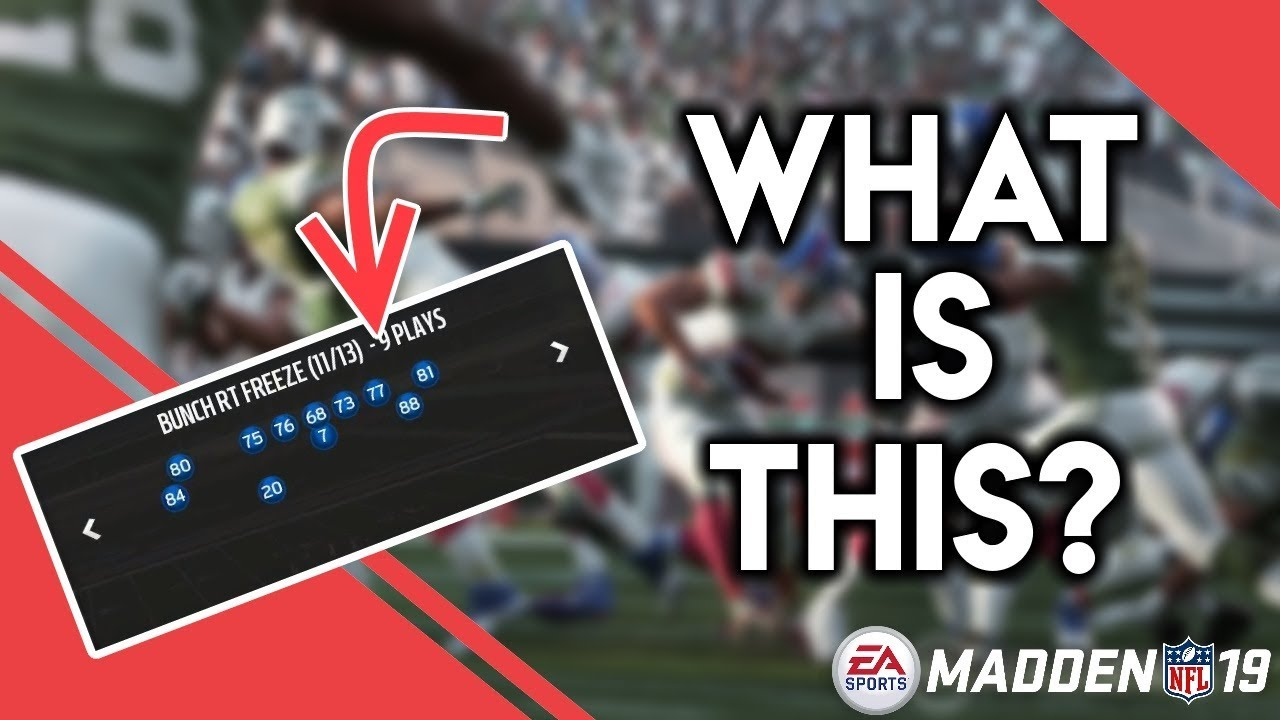 Madden 19 SECRET Offensive Playbooks That You Don't Know Exist