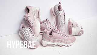 "Nike Air Max 97 Ultra, 95 and 90 LX ""Particle Rose"" Unboxing"