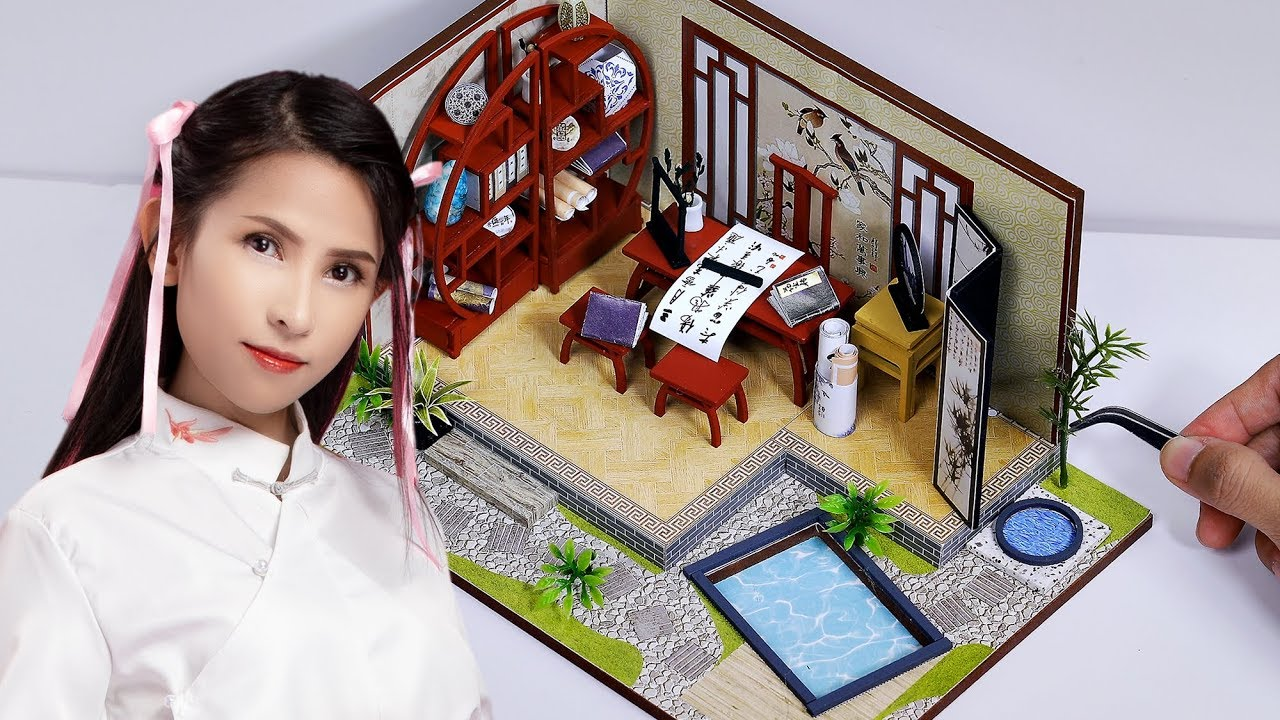 Miniature Chinese house   Làm nhà Trung Hoa siêu nhỏ tí hon   Thiên An