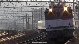 JR貨物 東武鉄道70000系甲種輸送 EF65 2090号機が牽引(H31.2.2)