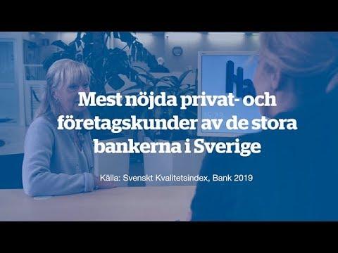 Mest nöjda privat- och företagskunderna av stora bankerna i Sverige