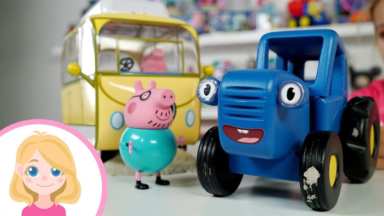История как #Свинка #Пеппа и вся семья застряли на машине ...