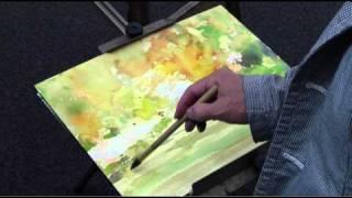 水彩動画塾 Lesson 9:手順を考えてイチョウ並木を描く