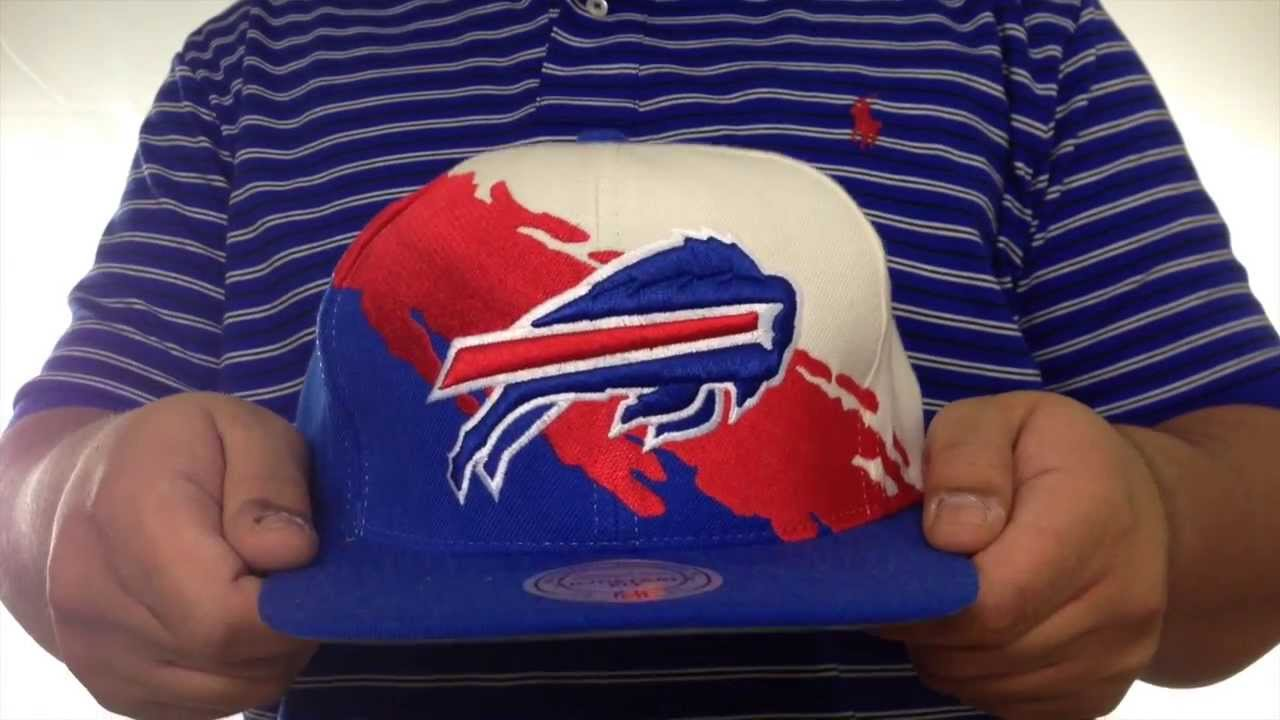 ca14832f19b Bills  PAINTBRUSH SNAPBACK  White-Red-Royal Hat by Mitchell   Ness ...