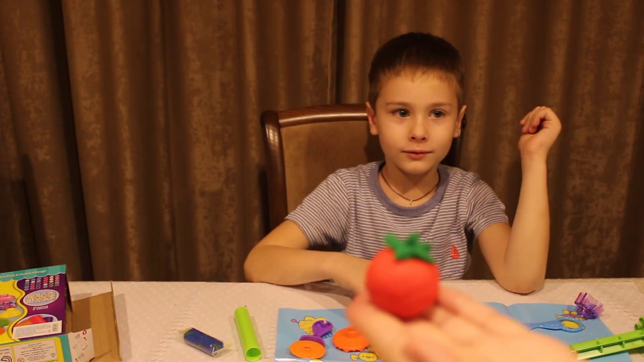 Пластилин плей до видео для детей лепим овощи из пластилина Play- doh video for children