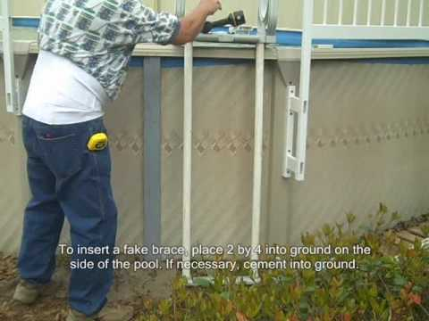 Above Ground Pool Fence premium guard - above ground pool fence brace installation - youtube