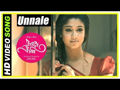 Raja Rani Tamil Movie Songs | Unnale Song | Nayanthara and Jai decide to marry | Sathyaraj