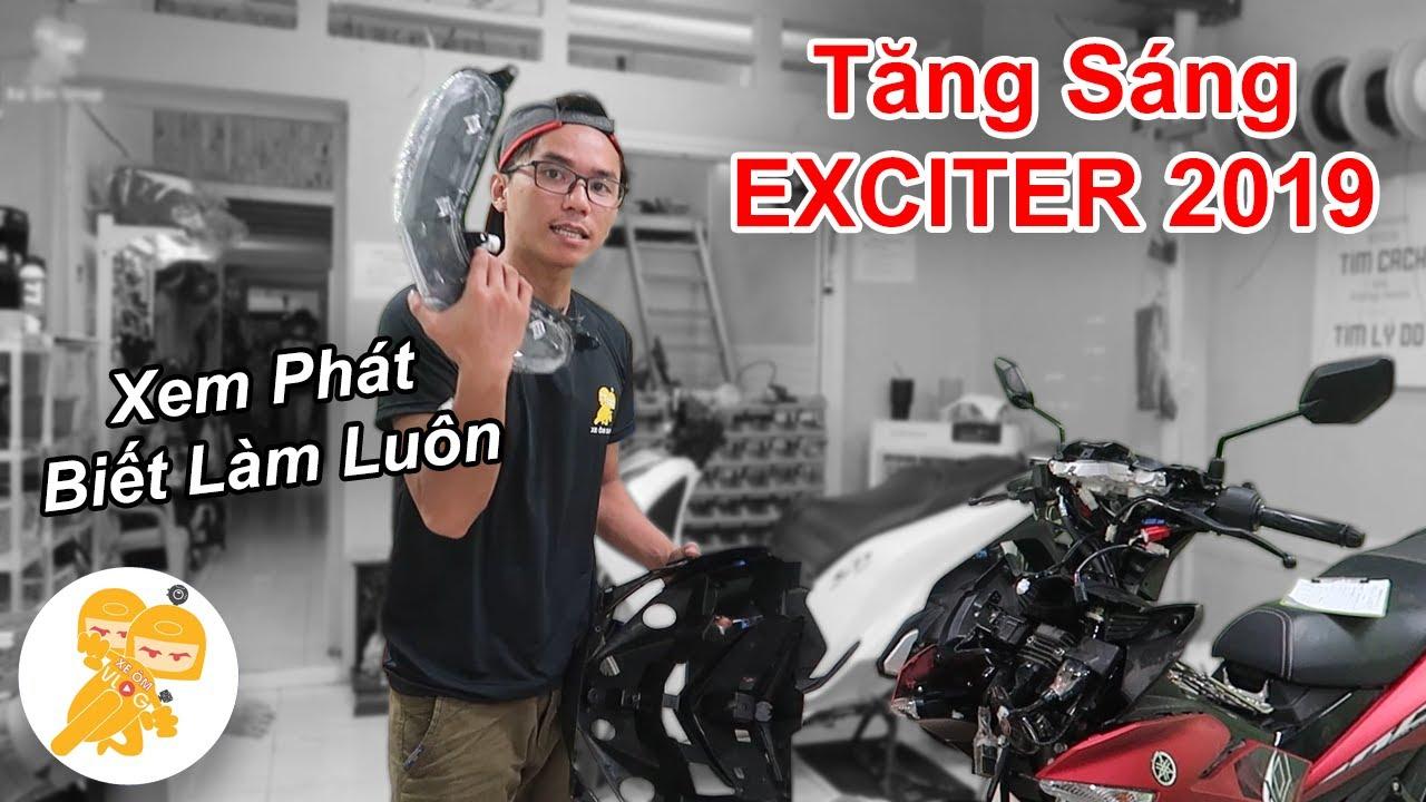 Hướng Dẫn Chi Tiết CÁCH LẮP TĂNG SÁNG Cho Exciter 2019 - Xe Ôm Shop