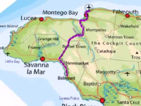 Jamaica Mapavi YouTube - Jamaica map
