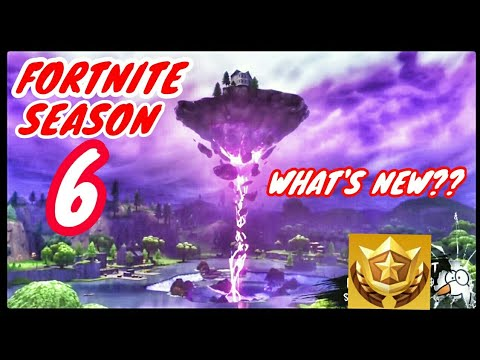 Fortnite Season 6*What's New And Battle Pass Items From Tier 1-100*Fortnite Battle Royale