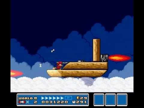 Super Mario Bros 3 World 8 Airship Youtube