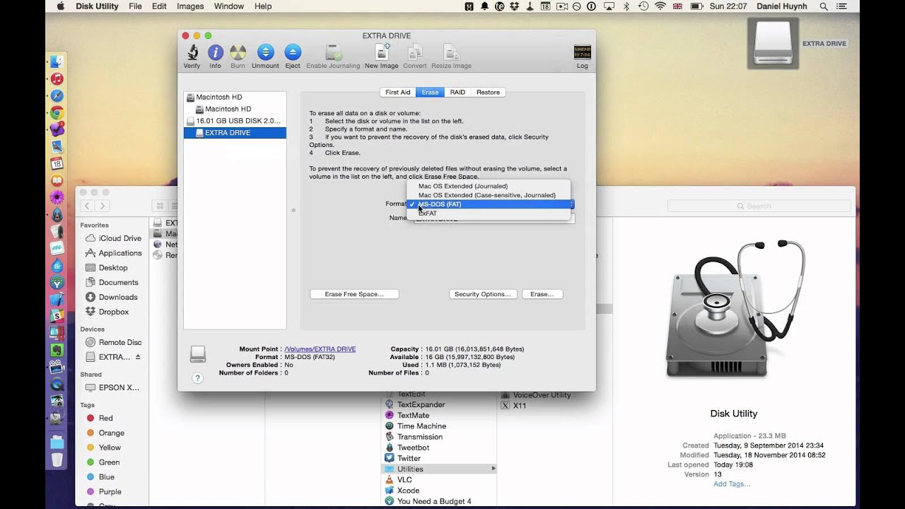 how to delete files on external drive mac