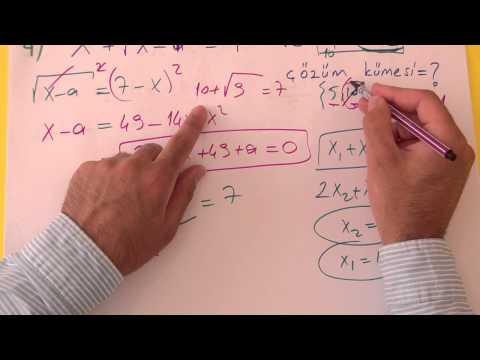 2. Dereceden Denklemler Soru Çözümü Şenol Hoca Matematik