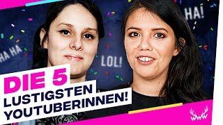 Die 5 LUSTIGSTEN YouTuberinnen! | TOP 5