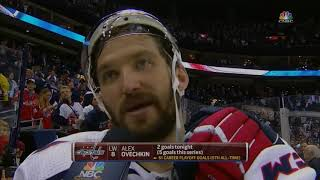 Alexander Ovechkin Postgame Interview (Caps vs. Blue Jackets Postgame)