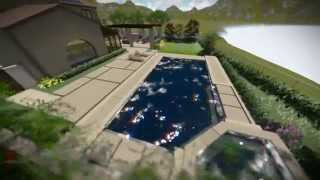 alta del mar landscape design san diego pardee homes urban landscape 3d fly through