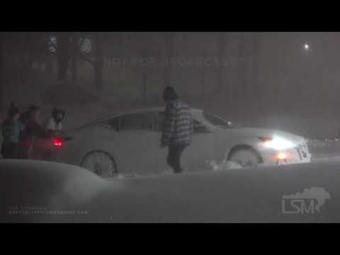 01-26-2021 Mount Shasta, CA - Major Winter Storm Shuts Down 100 Miles of Interstate 5