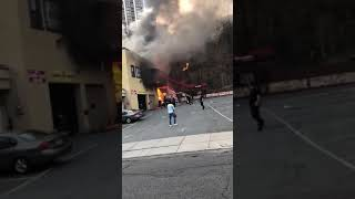 Girls Jump From Balcony to Escape Fire in Edgewater, New Jersey