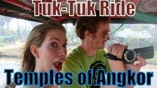 Tuk-Tuk ride (autorickshaw) around the Temples of Angkor, Siem Reap Province, Cambodia