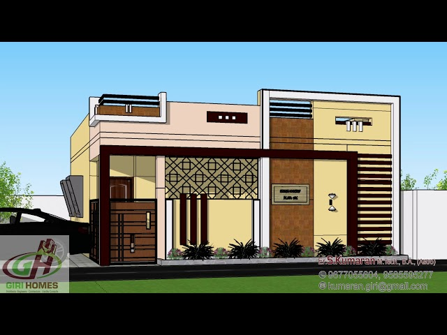 2Bhk North Facing House Elevation   @GIRI HOMES