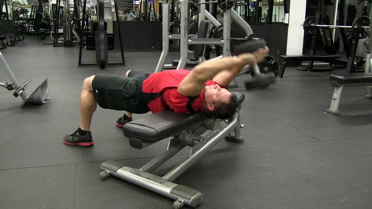 Lying Overhead Dumbbell Pullover - YouTube