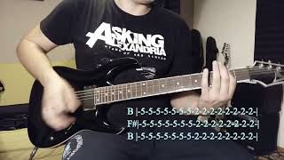 �������� ���� Asking Alexandria - Into The Fire (Guitar Cover & Tabs) ������