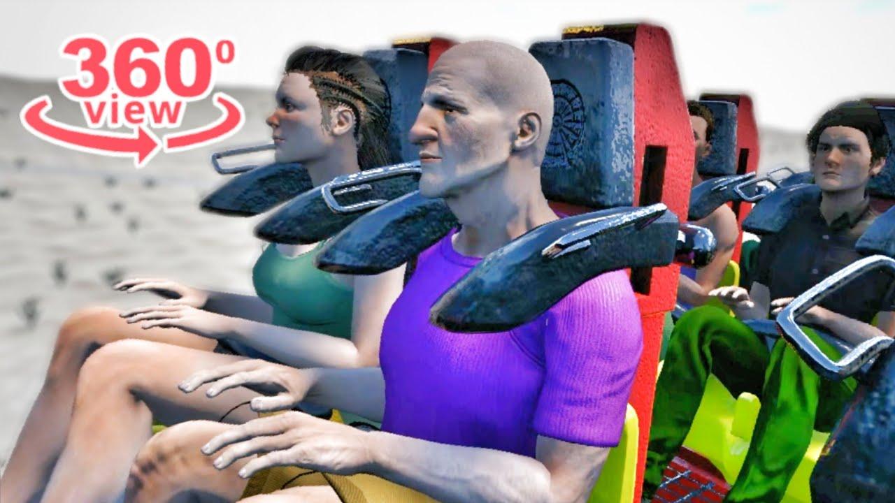 VR Thrill Ride 360° Roller Coaster Swing Simulator 4K