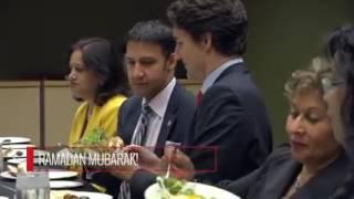بالفيديو.. رئيس وزراء كندا على مائدة الإفطار