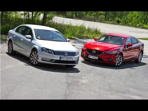 volkswagen passat b7 vs mazda 6 test youtube. Black Bedroom Furniture Sets. Home Design Ideas