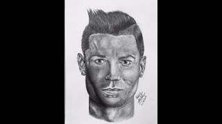 Drawing Cristiano Ronaldo || good bye and good luck in juventus