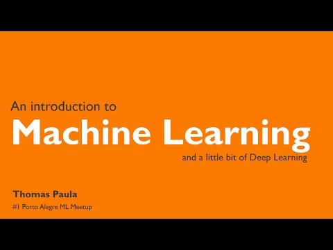 Introdução a Machine Learning - Thomas Paula