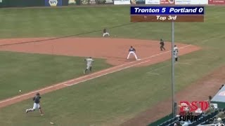 Sea Dogs' Betts Makes Diving Stop