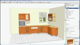 Создание проекта кухни с помощью KitchenDraw
