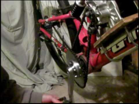 Dual freewheel front sprocket system prototype youtube for Freewheel sprocket for electric motor