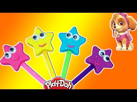 Learn Colors Play Doh Stars for Kids Finger Family Nursery Rhymes Patrol Paw