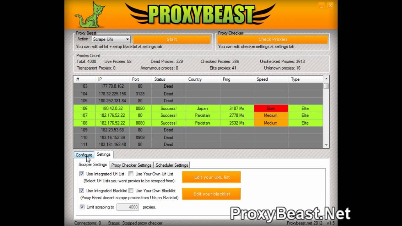 Proxy Beast v1 5 - Fastest Proxy Scraper & Proxy Checker!