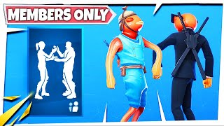 Fortnite Members Only Emote with Contract Giller (Bassassin), Triggerfish, Fishstick and leaked Skin